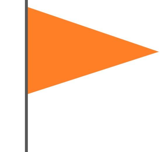 オレンジ色の旗