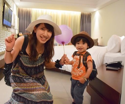 バンコクのサービスアパートメントに到着した子連れ主婦