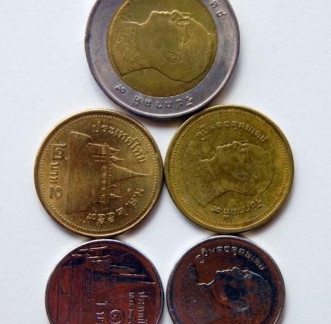 タイバーツの小銭
