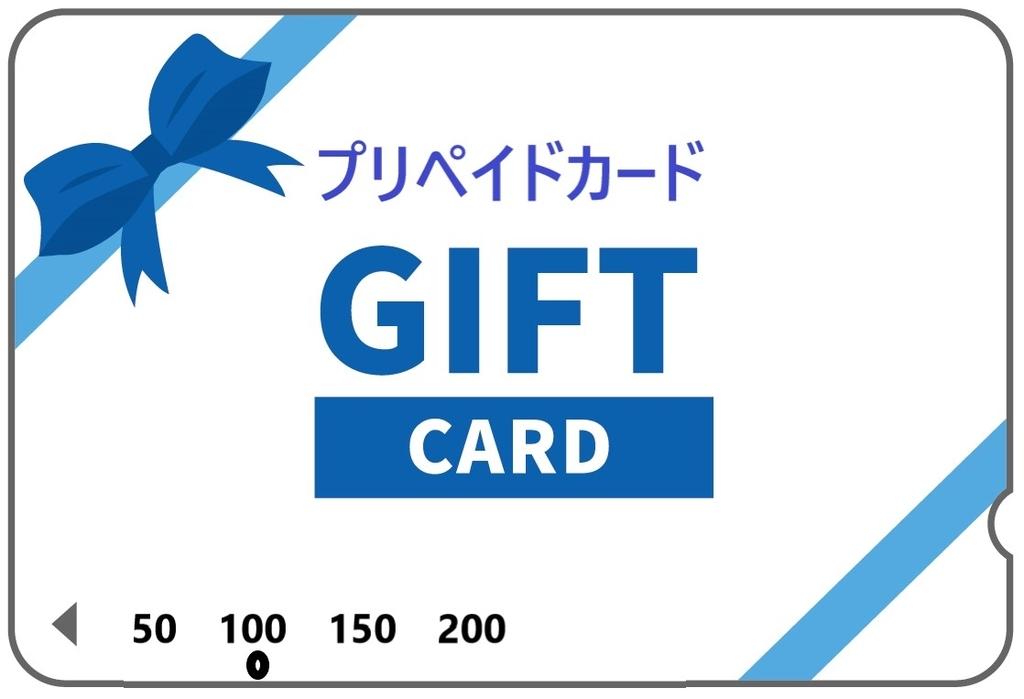 日本のプリペイドカードのイラスト