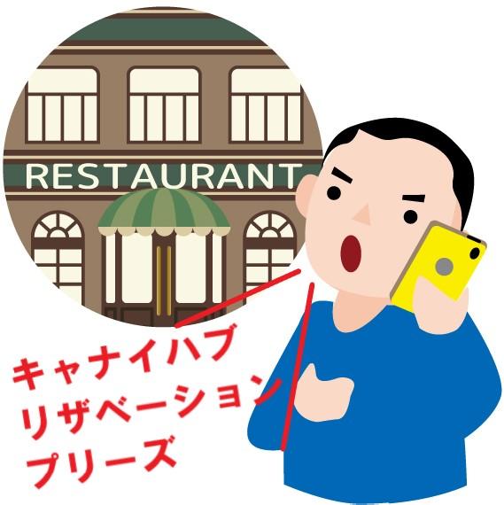 高級レストランに電話で予約している男性