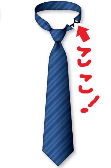 ホックが付いた簡易式ネクタイのイラスト
