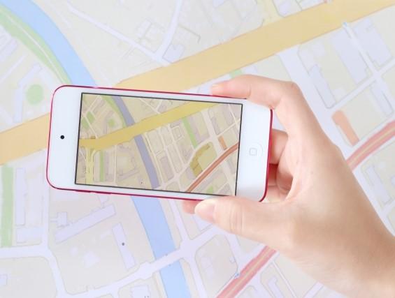スマホの地図アプリ