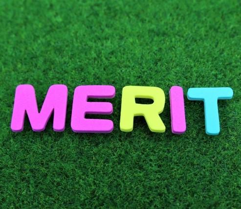 MERIT(メリット)と書かれた単語