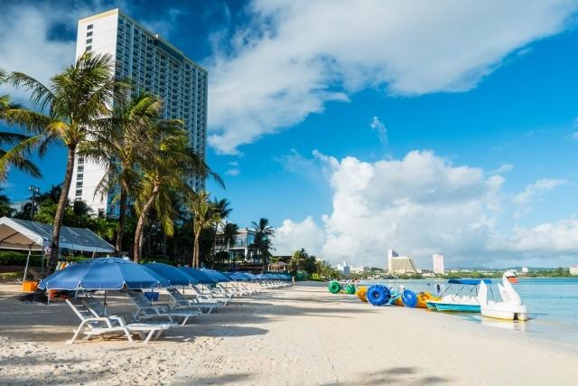 有給休暇で旅行に行ったグアムのビーチ