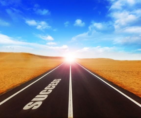 道の先に成功の光