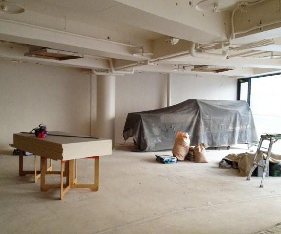 新規オープンに向けて工事中の飲食店