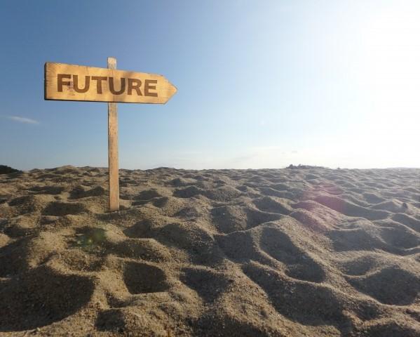 FUTURER 未来と書かれた立て札