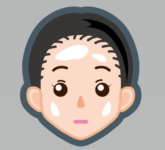 脂性肌(オイリー肌)の男の顔