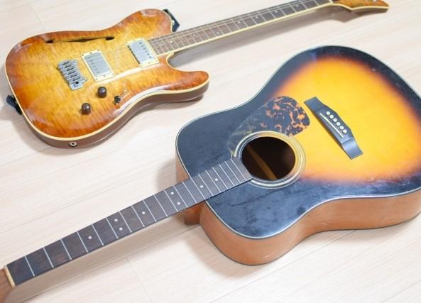 川越市のごみ分別で異なるエレキギターとアコースティックギター