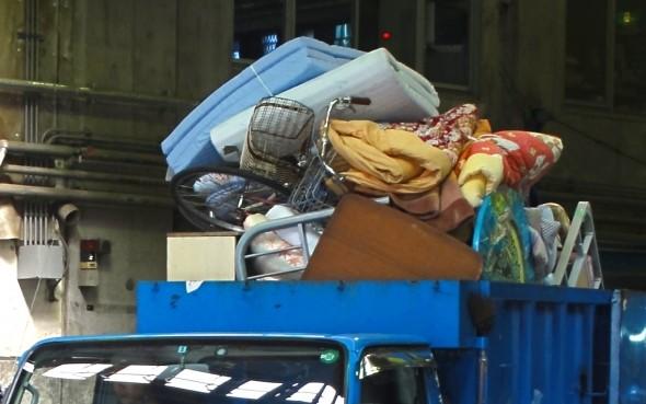 岐阜市、粗大ごみ回収のトラック