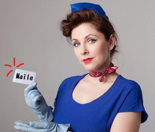 航空会社のマイルカードを持つ客室乗務員