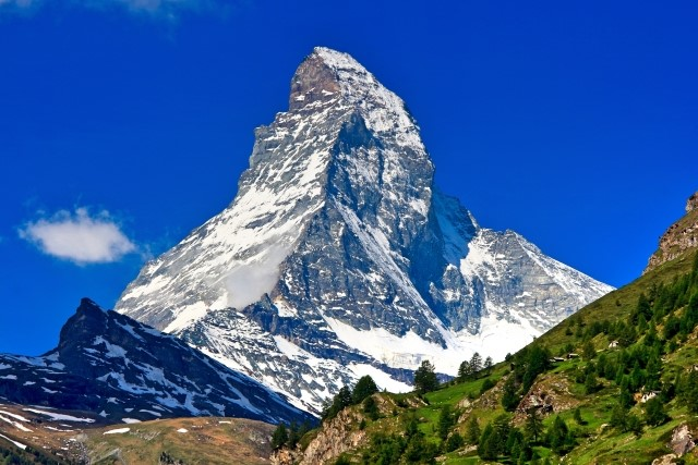 スイスの山、マッターホルン