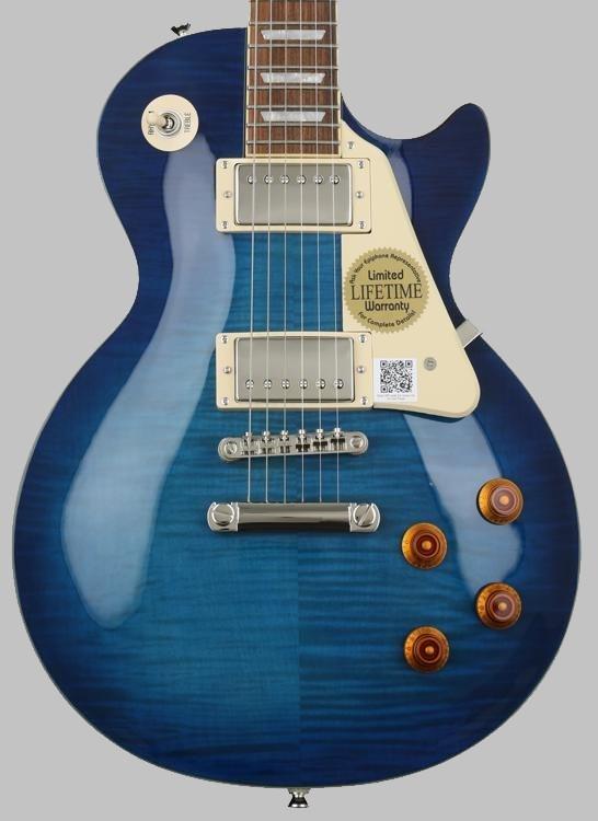 青いギブソン・レスポールギター