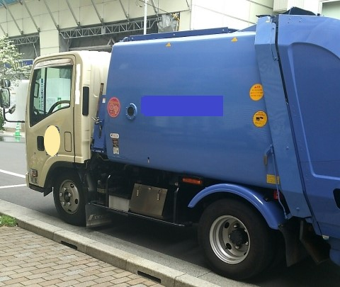 八尾市の粗大ごみ収集車のイメージ