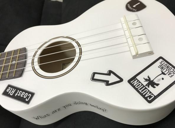 加古川市で捨てないで売る白いアコースティックギター