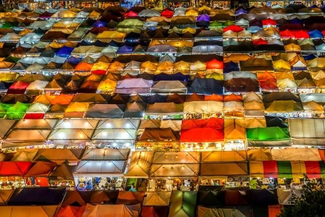 バンコクの有名なナイトマーケット