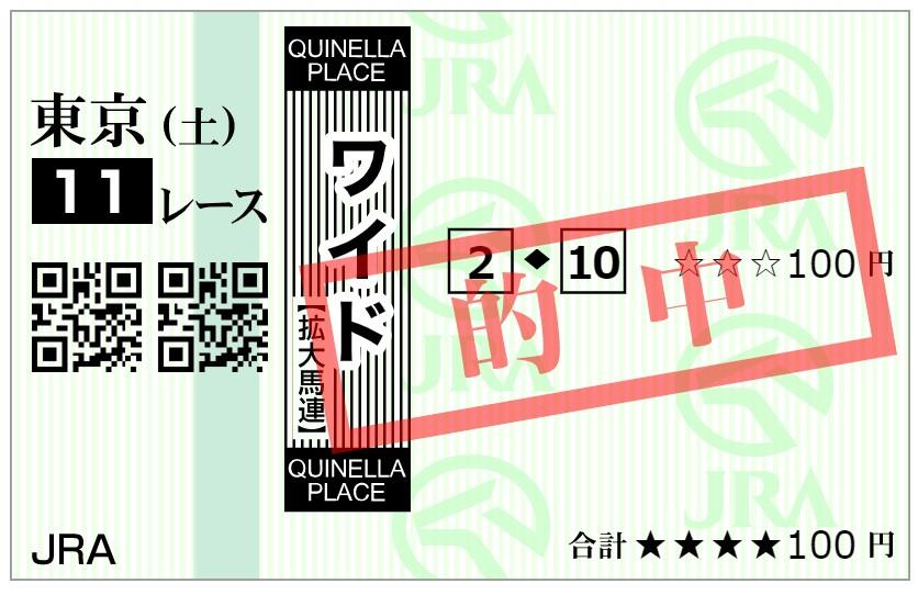 第28回青葉賞的中ワイド2-10