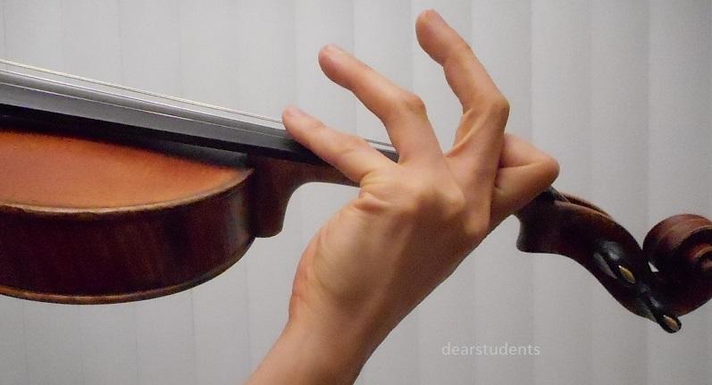 ヴァイオリン  ハーモニクス 4指