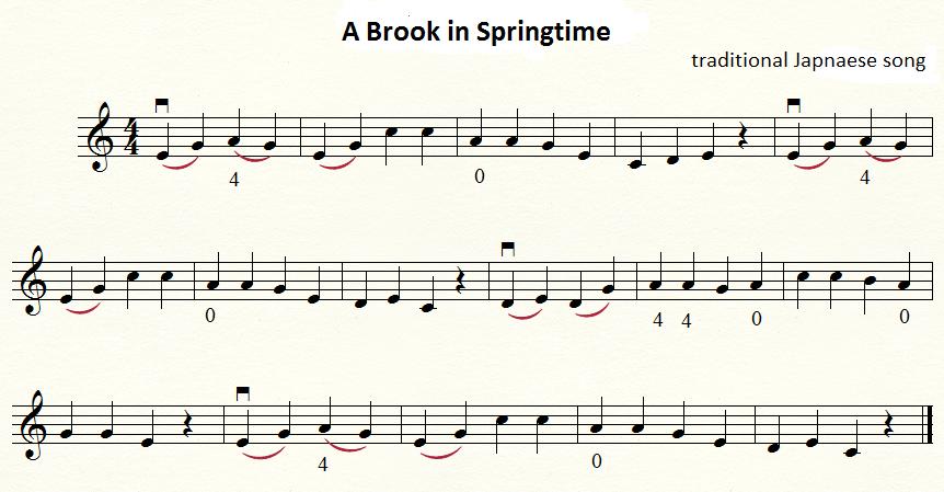篠崎ヴァイオリン教本1巻 春の小川、shinozaki violin method a brook of springtime