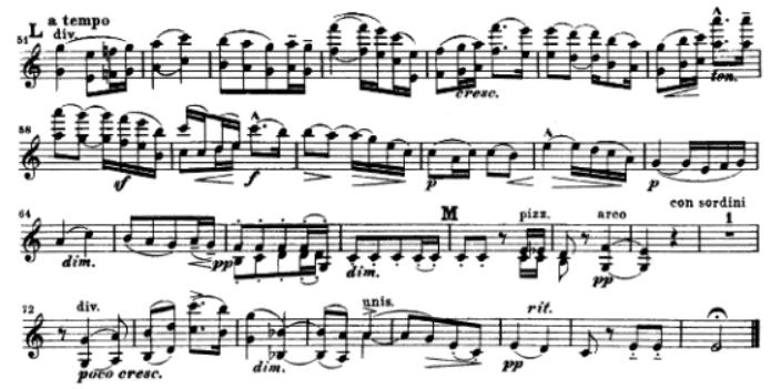elgar serenade for strings 2nd movement, mm.51-end