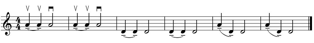 ポルタート, portato, 篠崎バイオリン教本1巻, Shinozaki Violin Method Vol.1