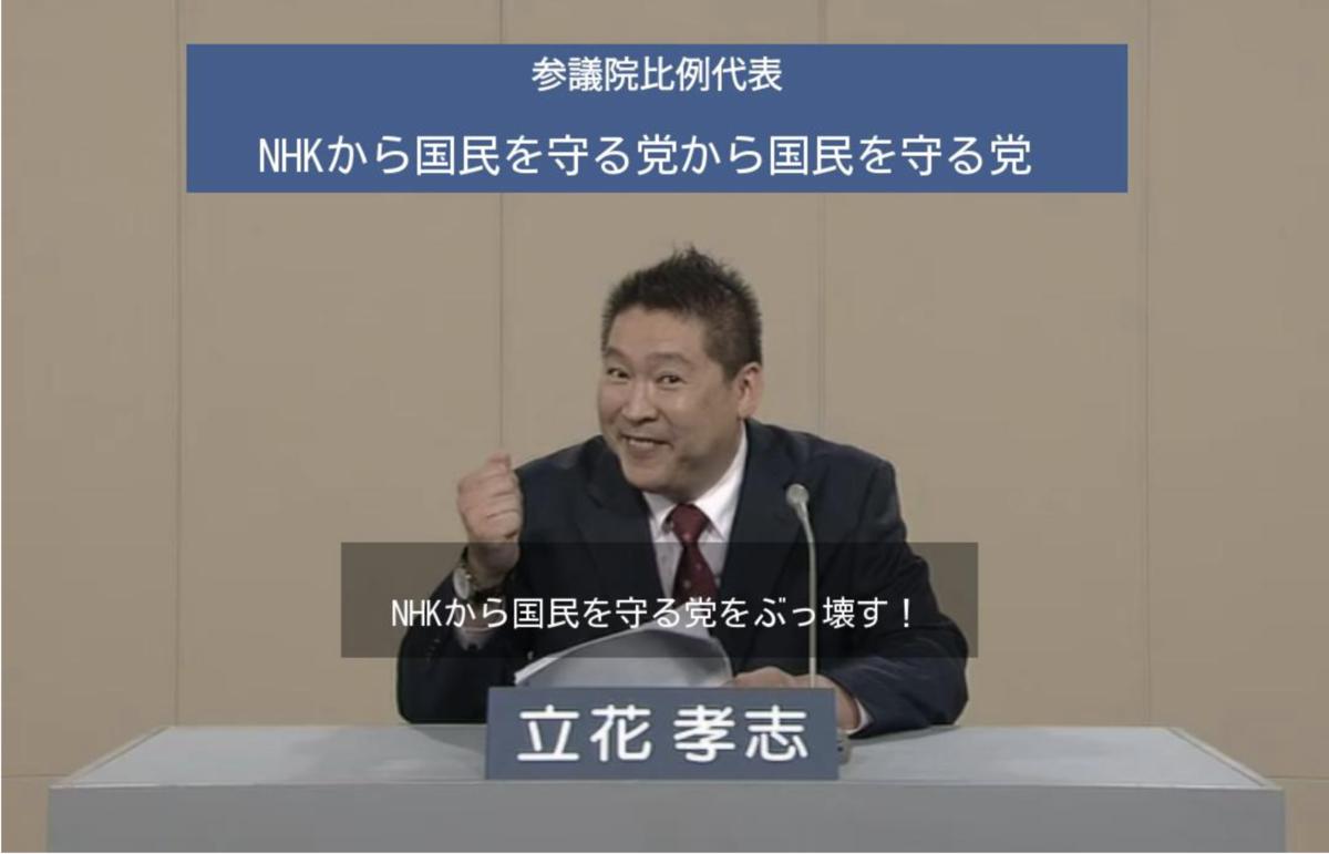NHKから国民を守る党から国民を守る党