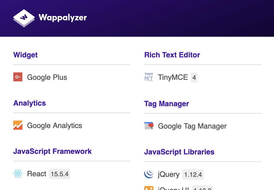 Wappalyzerはてなブログ