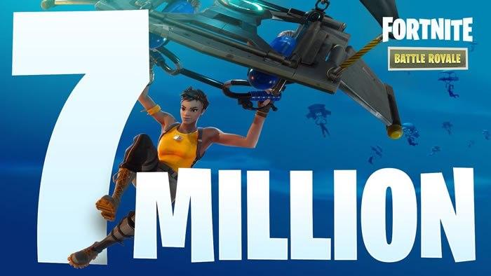【Fortnite Battle Royale】PC/XboxOne/PS4版を合わせた累計プレイヤー数が累計700万人を突破