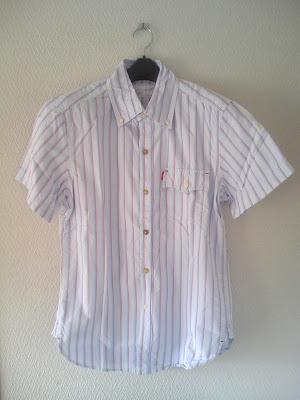 リーバイスのストライプのシャツ