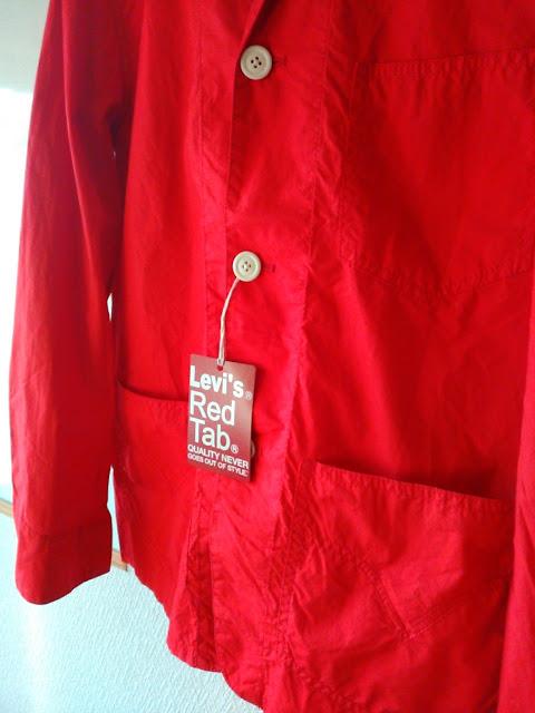 リーバイス、キムタクがCMで着てた赤いジャケット(部分)