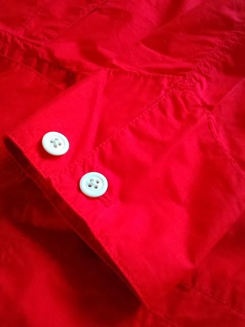 リーバイス、キムタクがCMで着てた赤いジャケット(袖口)