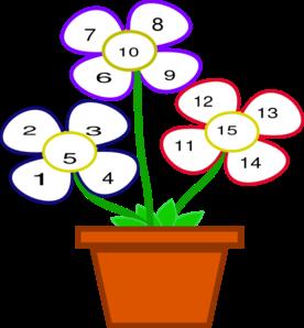 関連性を鉢植えの花のはらびらに例えたイラスト