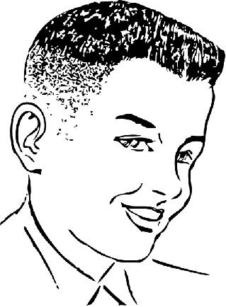 散髪したての青年のイラスト