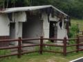 キャンプ場のトイレ跡。