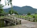 大分川に掛かる木橋