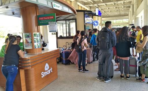 セブ空港国際線SIM販売
