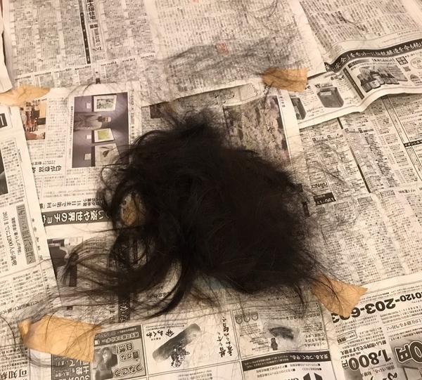 切った髪の毛