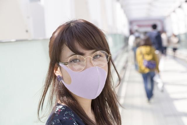 マスク女性の画像