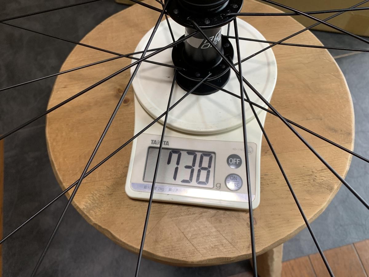 Prime Race Disk フロントホイール重量