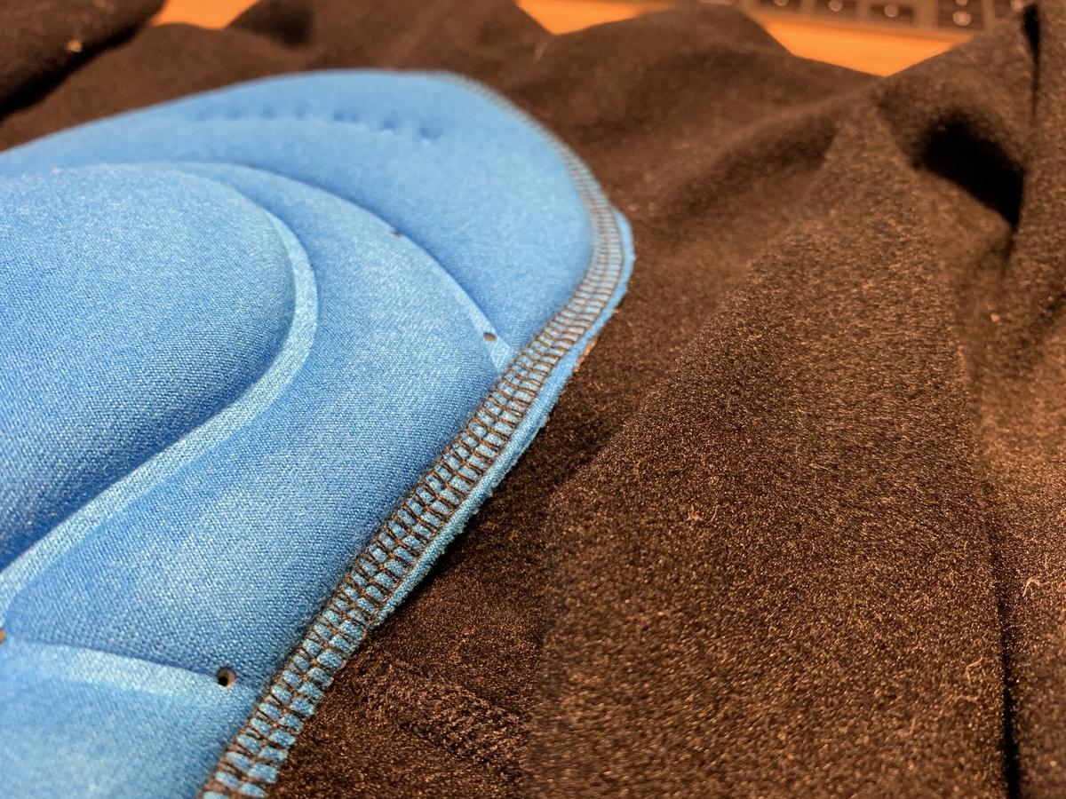 股ずれになる原因となったパットの縫製具合