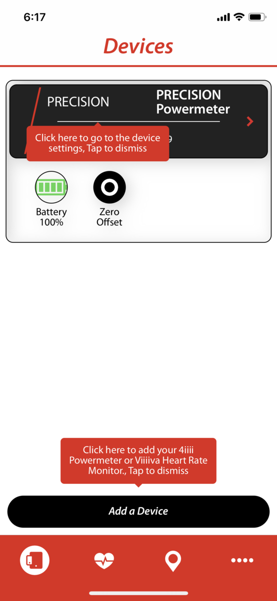 4iiii PRECISION APP iPhoneXS設定画面