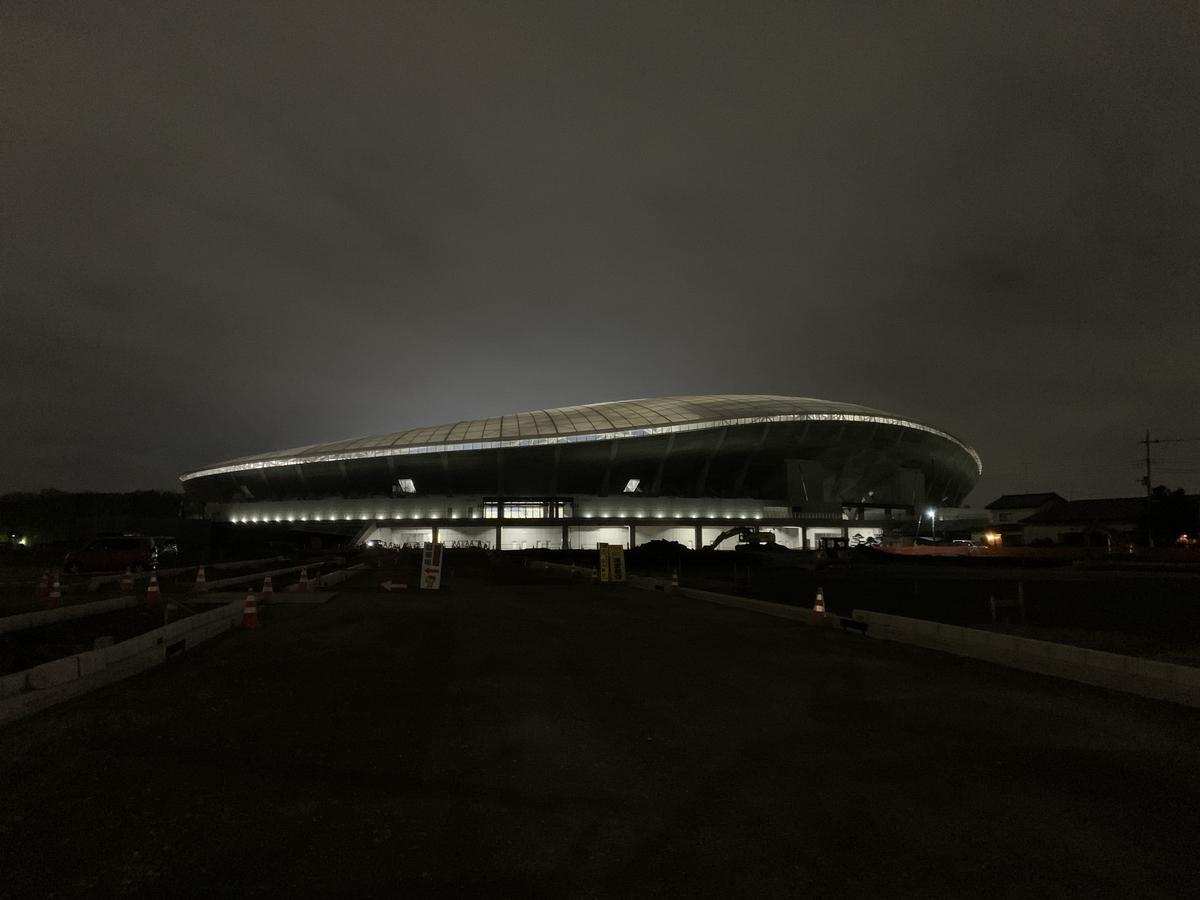 工事中の栃木県新サッカースタジアム