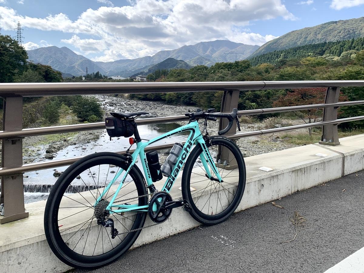栃木県道277号線大谷川から眺める日光連山