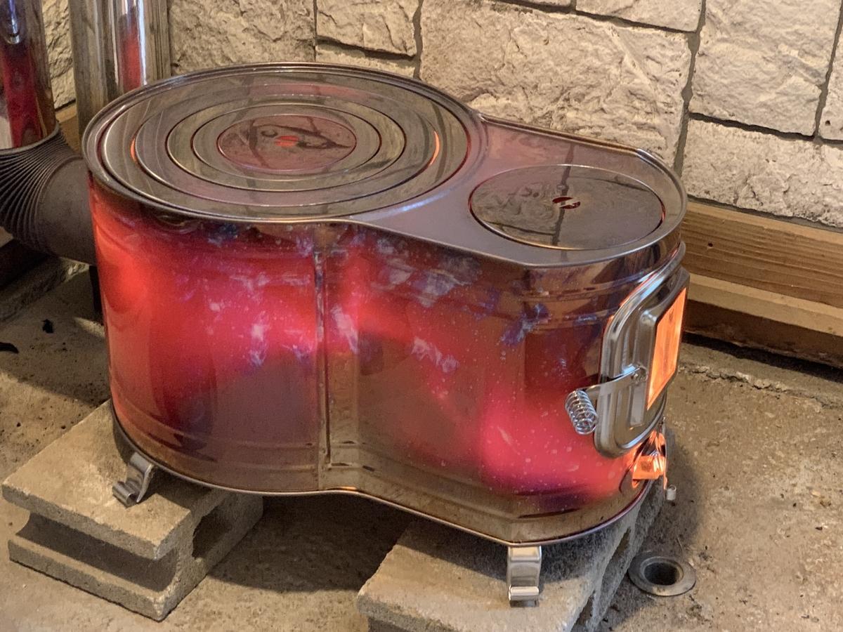 鉄板製薪ストーブの限界