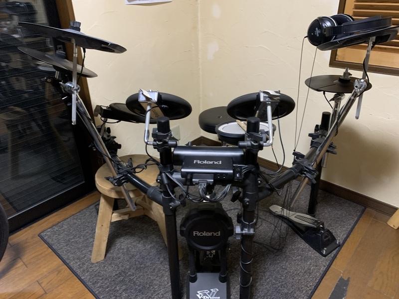 ROLAND ローランド - 電子ドラム V-Drums TD-4にシンバルを追加