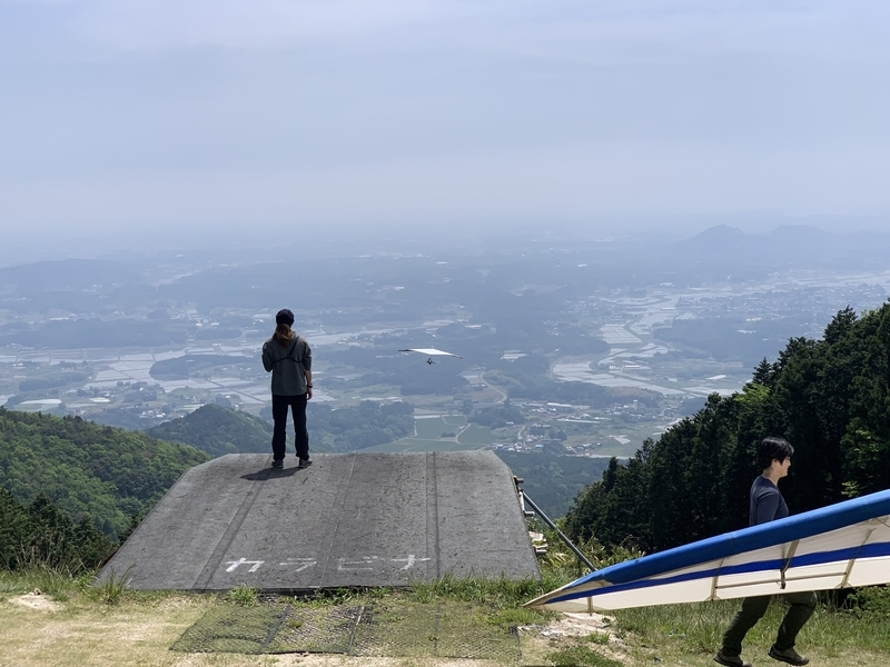 加波山ハンググライダー離陸場