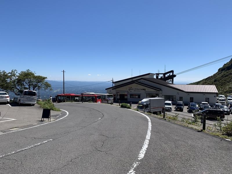絶好の秋晴れを味方に那須岳を目指すライド-那須ロープウェイ乗り場