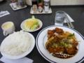 20100308の夕食。マルマン。ポークエスカロップと唐揚げ。
