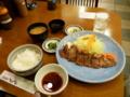 20100325の夕食。洋食屋とんはる。和風ステーキ定食